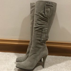 Valentino Tall Suede Bow Boot Size 39